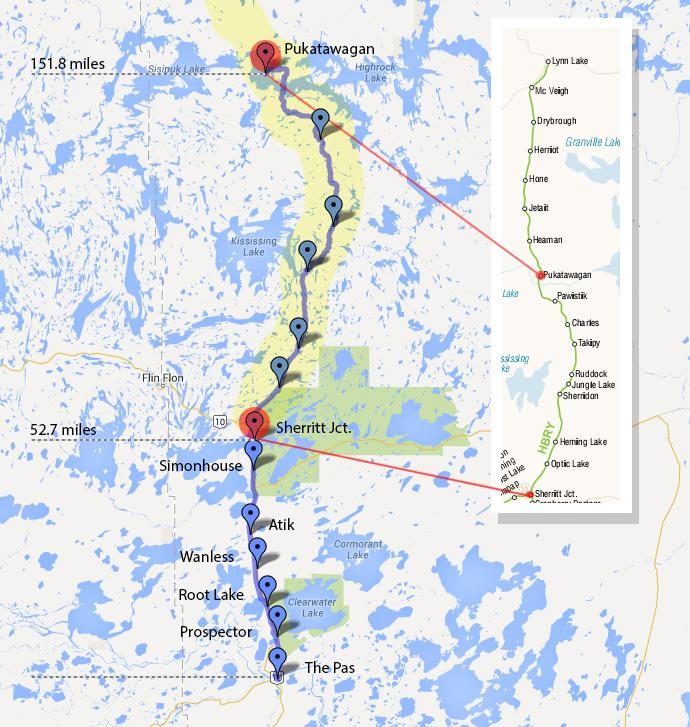 Route Map - Keewatin Railway Company